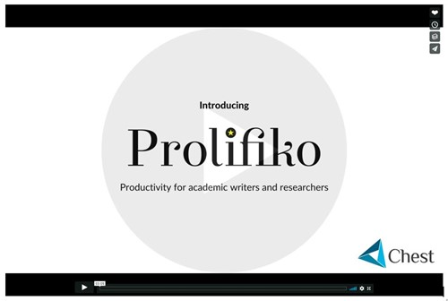 Snip of slide one of Prolifiko video presentation