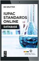 Thumbnail of De Gruyter IUPAC Standards Online cover